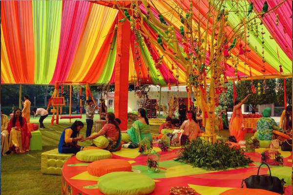 Mehandi Flower Decorations in Madruai